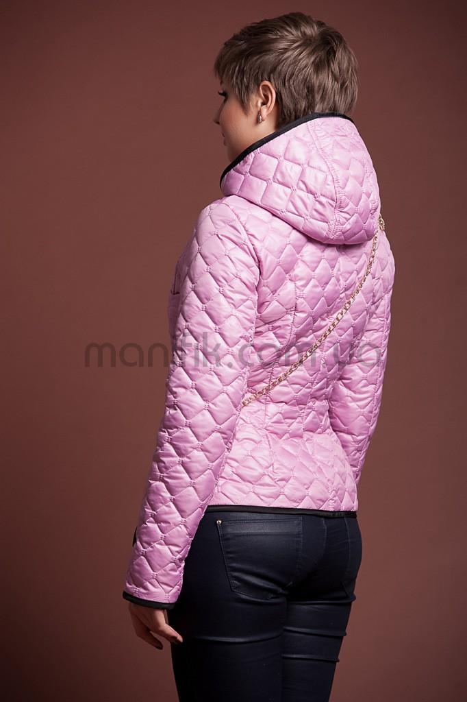 Куртка стежка к розовая