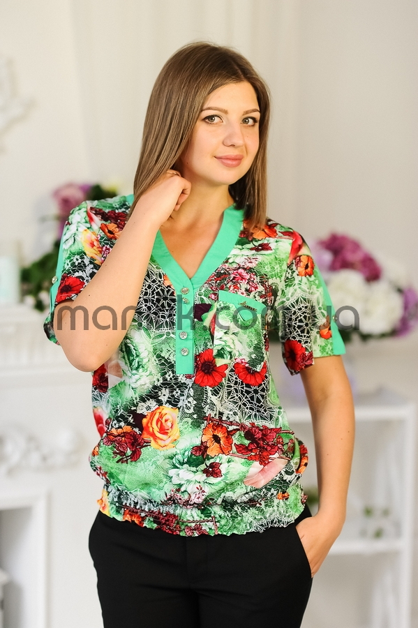Блузка Штапель Купить