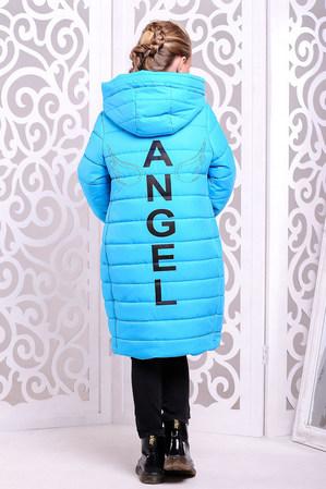 Пальто «Ангел», голубое