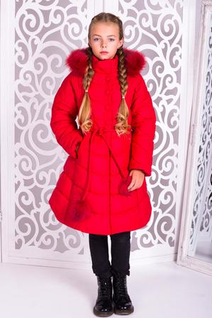 Пальто «Шейла», красное