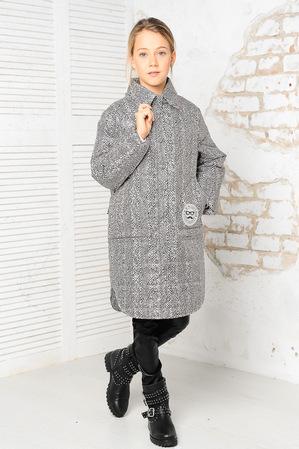Куртка «Алиса», серый принт