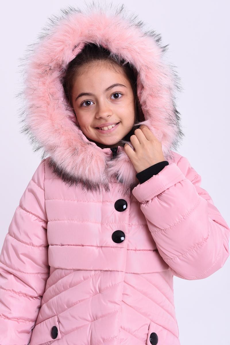 f111574edf7c Куртка «Элла», пудра - Зимняя куртка для девочки оптом от производителя