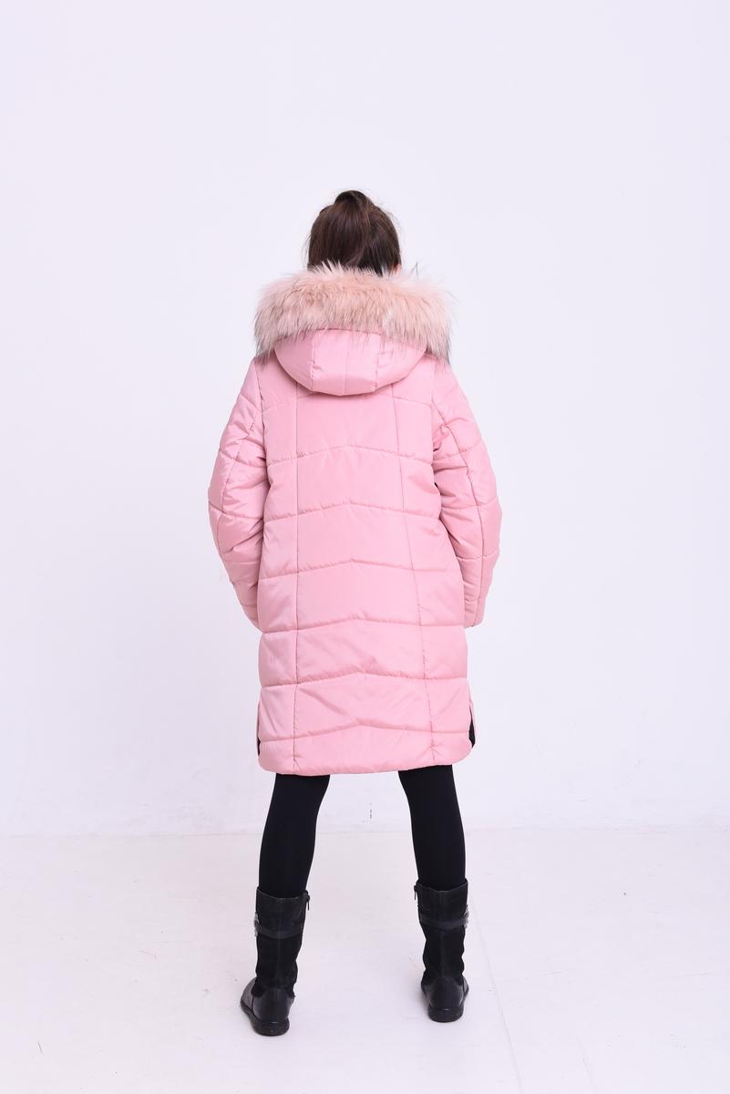 7bd3a76f561d Куртка «Арктика», пудра - Зимняя куртка для девочки оптом от ...
